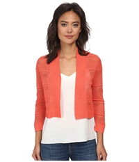 Rsvp Bre Crochet Shrug Coral Women's Sweater