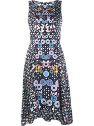 Peter Pilotto Floral Print Trapeze Dress Black