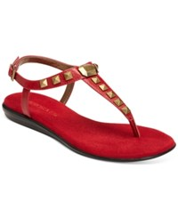 Aerosoles Chlose Together Flat Thong Sandals Women's Shoes Red
