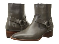 Frye Dara Harness Short Charcoal Smooth Polished Veg Women's Pull On Boots Gray