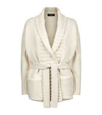 Burberry London Belted Cashmere Cardigan Female Cream