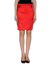 Annarita N. Knee Length Skirts Red