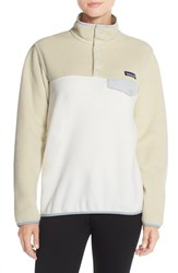Women's Patagonia 'Synchilla' Lightweight Pullover Bleached Stone