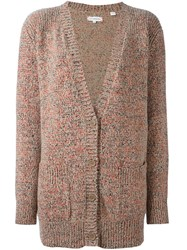 Chinti And Parker Flecked Marl Long Cardigan Pink And Purple