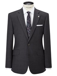 Chester Barrie By Glen Check Tailored Suit Jacket Grey Blue