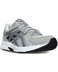 Asics Men's Gel Contend 3 Wide Running Sneakers From Finish Line Lt. Grey Titanium Black