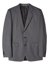 Aquascutum London Twill Wool Suit Jacket Grey