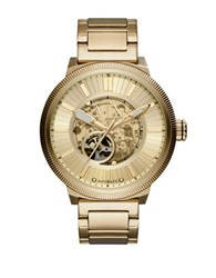 Armani Exchange Ax Atlc Goldtone Stainless Steel Open Dial Automatic Watch