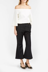 Ellery Wasp Flared Trousers Black