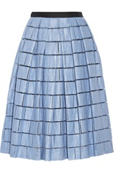 Tibi Raffia Effect Cotton Blend Skirt