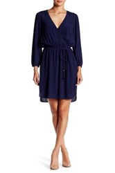Daniel Rainn Tassel Tie Shirt Dress Blue