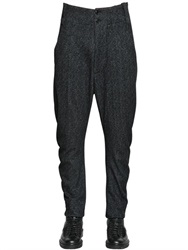 Giorgio Armani 17.5Cm Flocked Wool Jersey Pants