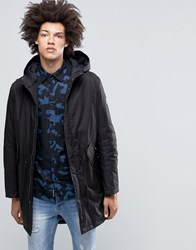 Cheap Monday Cage Hooded Parka Black Black