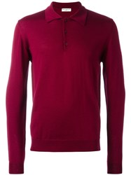 Editions M.R Long Sleeved Polo Shirt Red