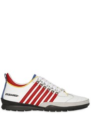 Dsquared Striped Leather Sneakers
