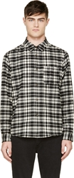A.P.C. Black And White Flannel Plaid Shirt