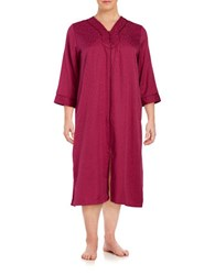 Miss Elaine Plus Embroidered Duster Robe