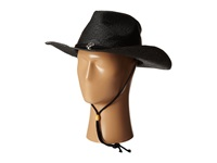 San Diego Hat Company Pbc1030 Woven Paper Straw Cowboy W Chin Cord And Metal Trim Black Traditional Hats