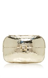 Anndra Neen Hammered Clutch Silver