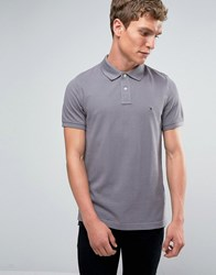 Tommy Hilfiger Polo Shirt With Flag Logo In Slim Fit Grey 857899351