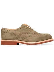 Church's Lace Up Oxford Shoes Green