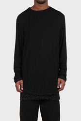Good As Gold Online Clothing Store Mens And Womens Fashion Streetwear Nz Speckled Double Layer Long Sleeve T Shirt Black