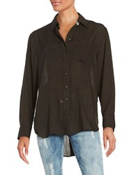 Free People That's A Wrap Oversized Oxford Shirt Black