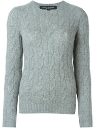 Ralph Lauren Black Label Ralph Lauren Black Cable Knit Crew Neck Sweater Grey