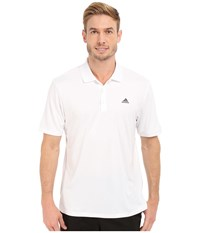 Adidas Branded Performance Polo White Men's Short Sleeve Pullover