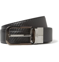 Alfred Dunhill Reversible 3Cm Embossed Leather Belt Black