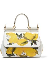Dolce And Gabbana Sicily Small Printed Textured Leather Shoulder Bag