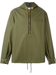 Palm Angels 'Anorak' Hooded Coat Green