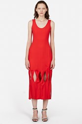 Opening Ceremony Glide Twisted Panel Dress Cherry Red