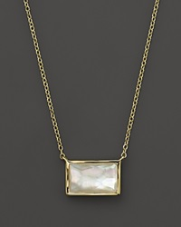 Ippolita 18K Gold Gelato Small Baguette Station Necklace In Mother Of Pearl 16 White