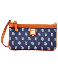 Dooney And Bourke San Diego Padres Mlb Large Wristlet Navy