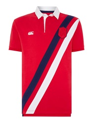 Canterbury Of New Zealand Sash Rugby Polo Red