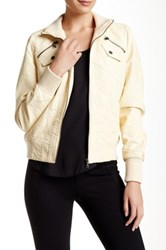 Truth Of Touch Hailey Faux Leather Jacket White