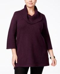 Karen Scott Plus Size Cowl Neck Tunic Only At Macy's Purple Dynasty Marble
