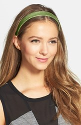 L. Erickson Leather Headband Green South Beach Lime