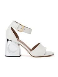 Marni Block Heel Sandals White
