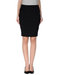 Axara Paris Knee Length Skirts Black