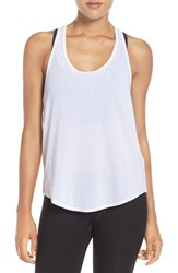 Zella Women's 'Flow Over' Woven Tank White