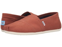 Toms Classic Canvas Picante Red Canvas Men's Flat Shoes Orange