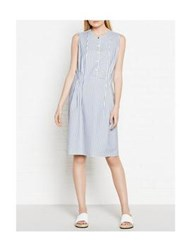Paul By Paul Smith Striped Sleeveless Dress Blue White