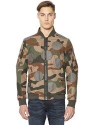 G Star Army Camouflage Cotton Bomber Jacket
