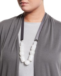 Livia Stone Necklace Women's Dark Grey Marina Rinaldi