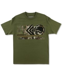 Metal Mulisha Men's Graphic Print T Shirt Military Green
