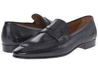 Gravati Rodeo Calf Moc Toe Penny Loafer Black
