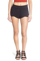 Women's Rvca 'Worthy 2' Print Shorts Black