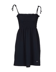 Sun 68 Dresses Short Dresses Women Dark Blue